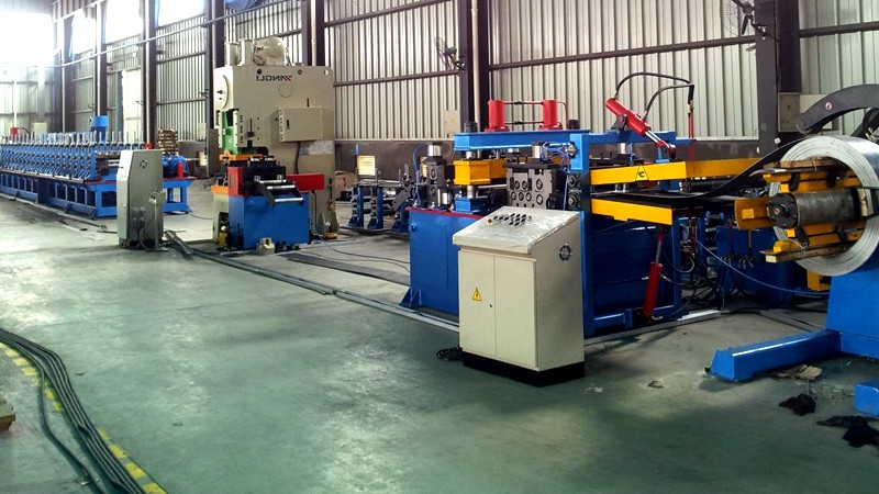 Racking and shelving forming machine