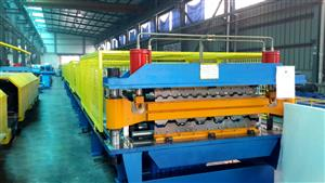 76-250 double layer roll forming machine
