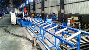 Electric Cabinet post roll forming machine